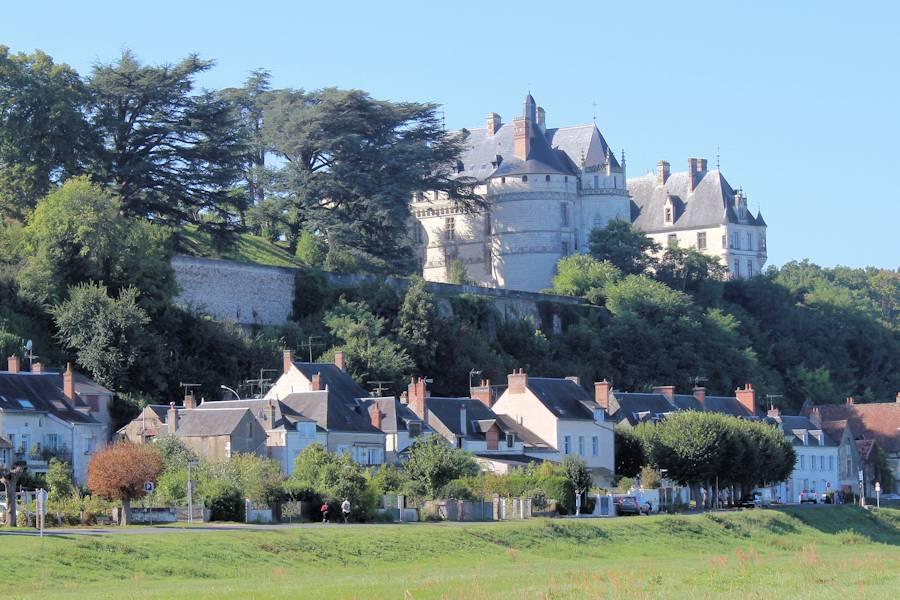Château de Chaumont, vom Ufer der Loire aus gesehen