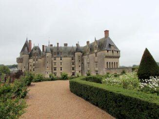 Schloss Langeais an der Loire, vom Garten aus gesehen