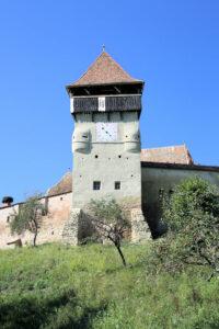 Turm der Kirchenburg Alma Vii (deutsch Almen, ungarisch Szászalmád), Rumänien