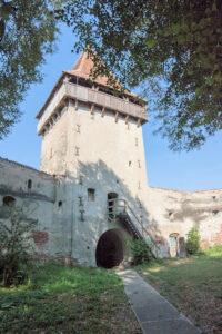 Kirchenburg Boian (deutsch Bonnesdorf, såksesch Bonnesdref, ungarisch Alsóbajom)