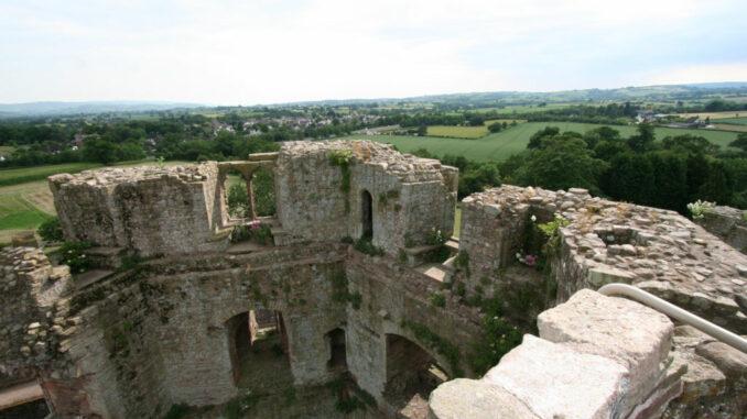 Raglan-Castle-Wales_0730_Blick-in-die-Ferne