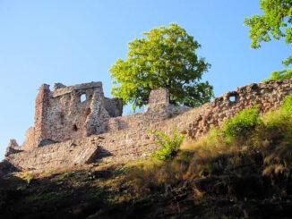 Burg Hohnstein, Thüringen - Seitenansicht
