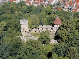 Burg Honberg, Baden-Württemberg - Luftbild