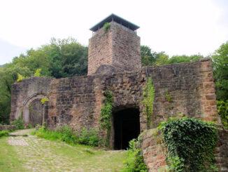 Hinterburg Neckarsteinach, Hessen - Bergfried