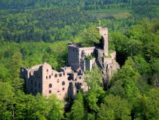 Altes Schloss Hohenbaden - schöner Blick von oben © Achim Mende / SSG