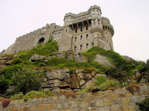 Saint Michaels Mount, Cornwall - Blick nach oben zum Palas