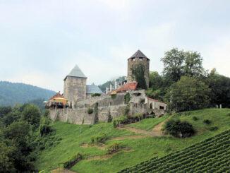 Burg Deutschlandsberg, Steiermark - Frontalansicht