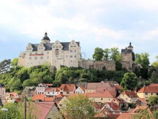 Seitenansicht Burg Ranis (Thüringen)