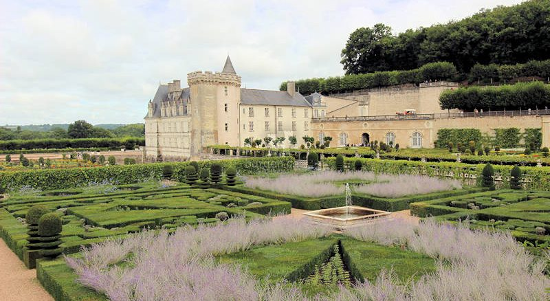Chateau de Villandry, Loire (Frankreich) - Wintergrass