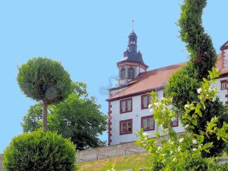 Schloss Wilhelmstein (Thüringen) - Ansicht Turm aus dem Park