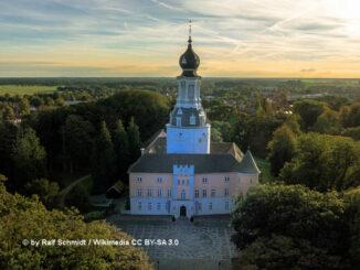Schloss Jever (Niedersachsen) - Luftbildaufnahme; © Ralf Schmidt under CC-BY 3.0
