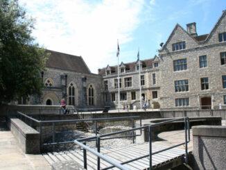 Great Hall Winchester, England - Hof und Eingang