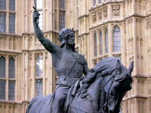 Statue von Richard Löwenherz, London © ZDF / Guillaume Taverne