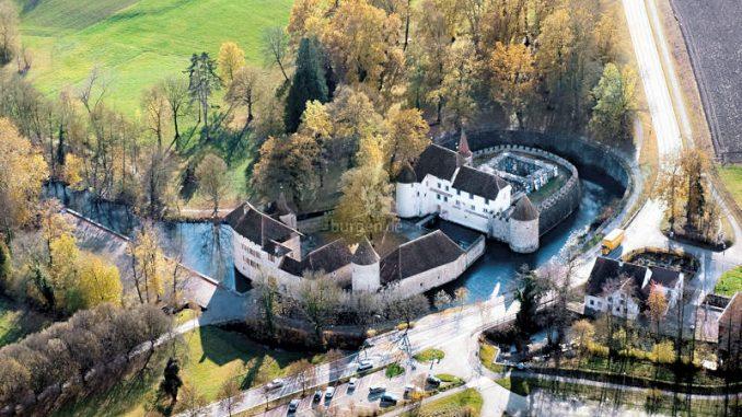 Schloss-Hallwyl_Luftaufnahme