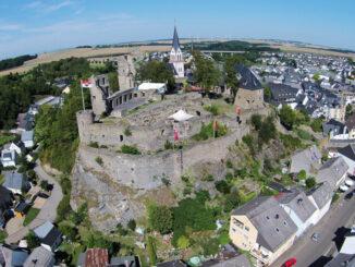 Schöner Blick aus der Luft © Burg Kastellaun