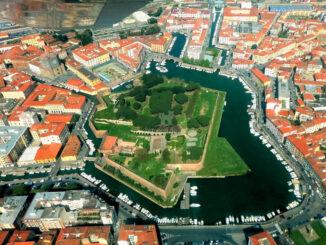 Luftbild - Festung mit Hafen © Fortezza Nuova Livorno