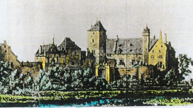 Boetzelaer_Geschichte-der Burg-Ansicht-SuedOst-Zeichnung-Hermann-Saftleven_800