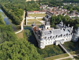 Das Schloss aus der Luft © Château de Tanlay