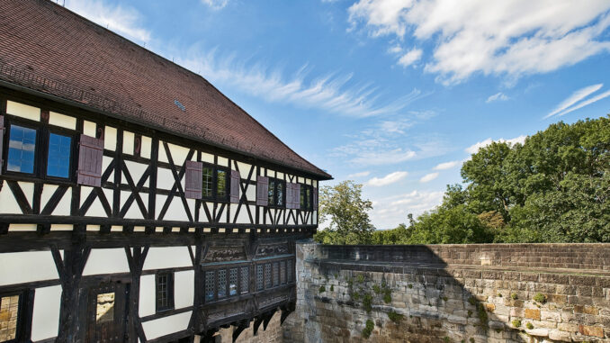 Ansicht Fachwerk, Burg Wäscherschloss © SSG BW