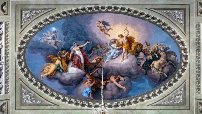 Castello-Reale-di-Govone_Deckenfresko-Olymp-mit-Latona-Apollo-und-Diana _c-Castello-Reale-di-Govone