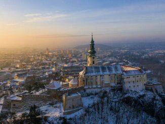 Nitriansky hrad – Winterlicher Blick über die Stadt © Nitriansky hrad Nitra