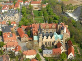 Schloss Merseburg Schloss und Dom aus der Luft © Kreisverwaltung Saalekreis