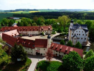Wasserschloss Klaffenbach aus der Luft © Steffen Thost